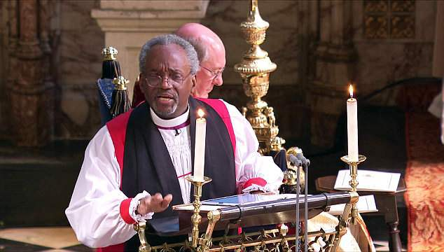 michael curry royal wedding